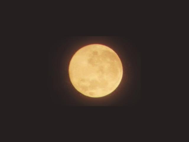 Mesiac cez binokulár 7x50