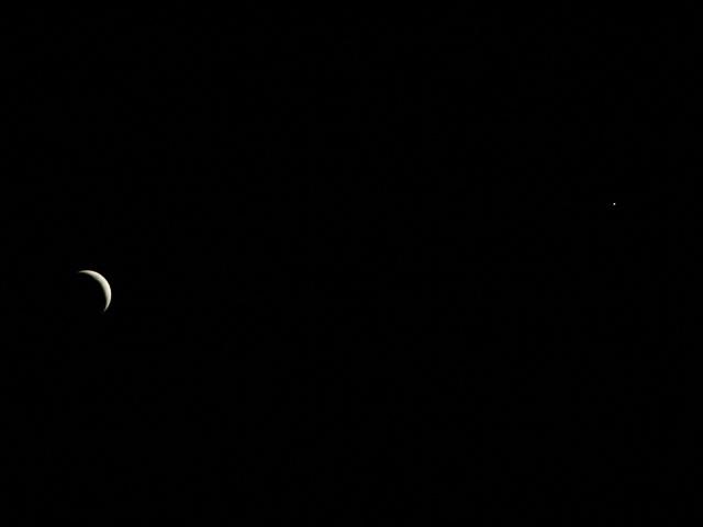 Mesiac a Venuša - 21.4.2007