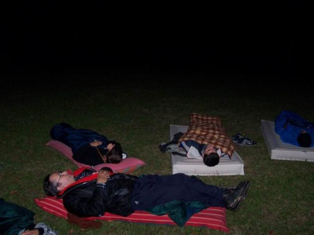 Počas pozorovania meteorov