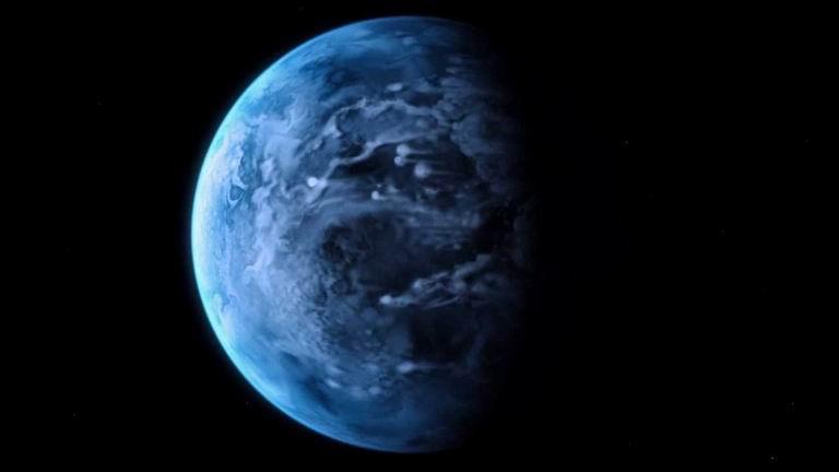 Kresba exoplanéty HD 189733b