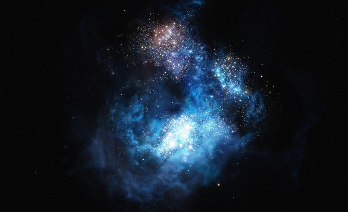 Umelecká predstava galaxie CR7