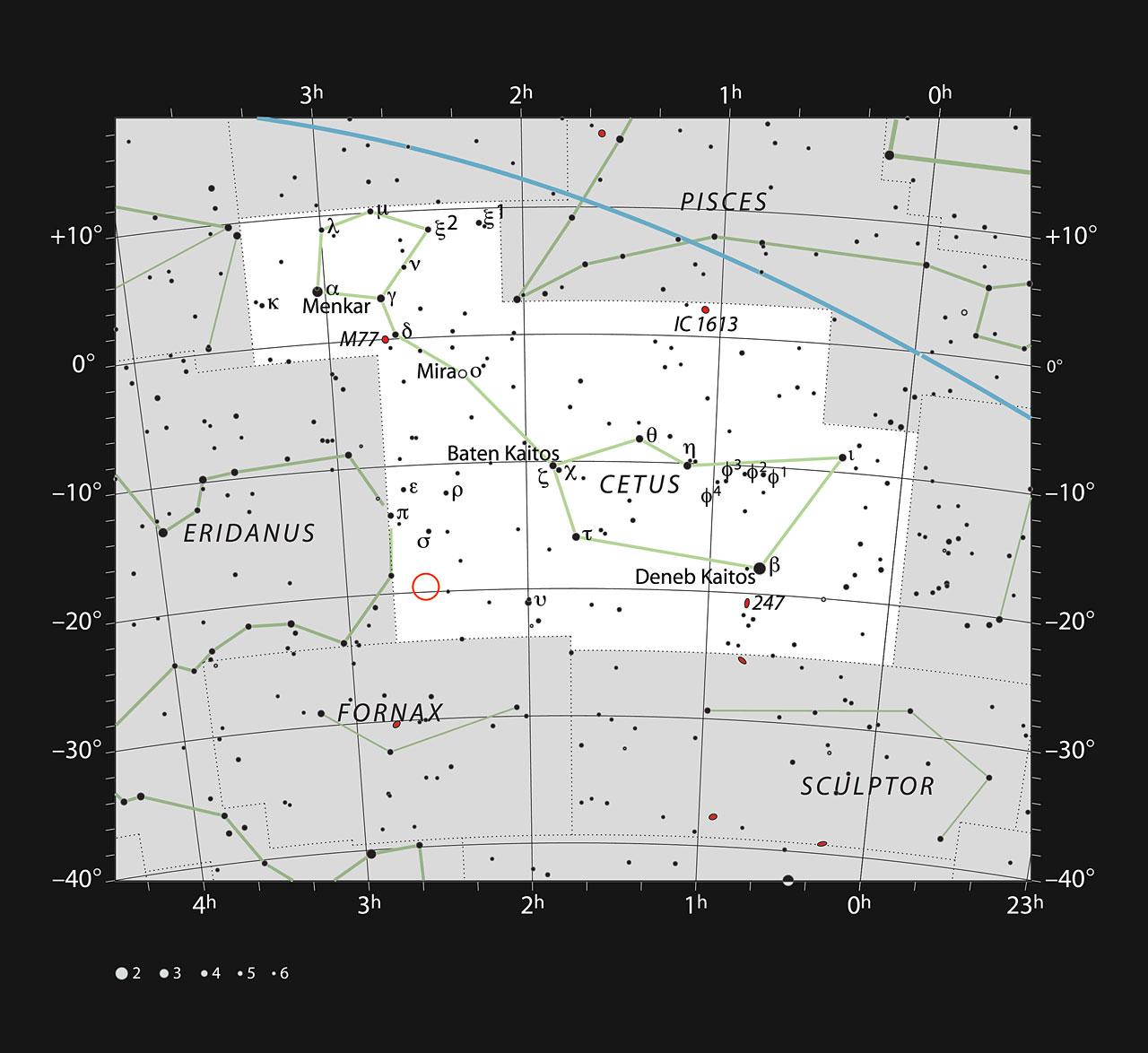 HIP 11915 - vyhľadávacia mapka
