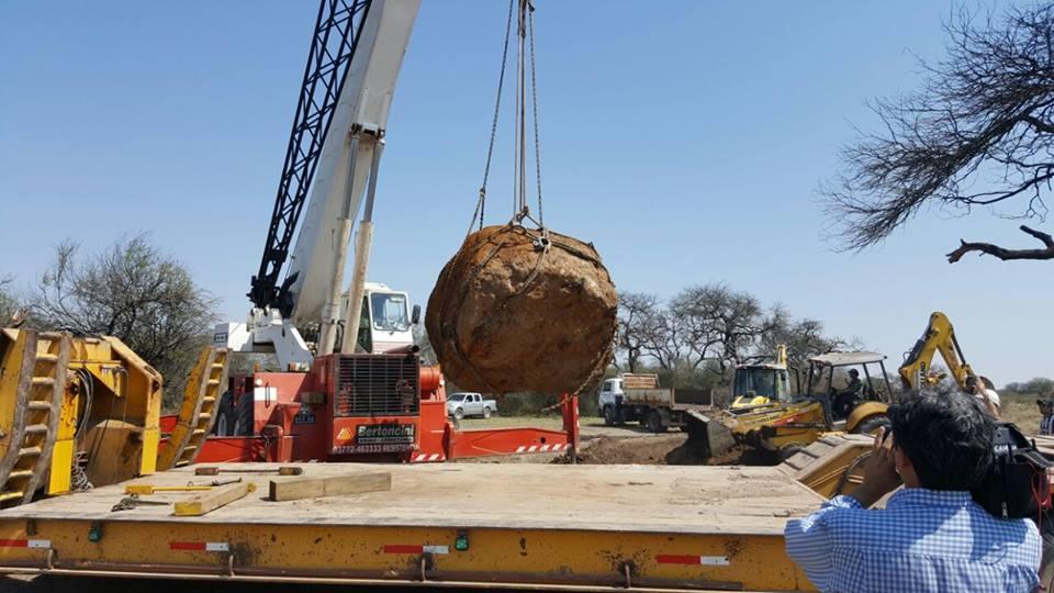 Nakladanie meteoritu Gancedo