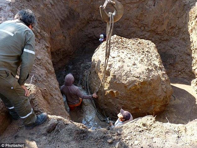Meteorit Gancedo na mieste nálezu