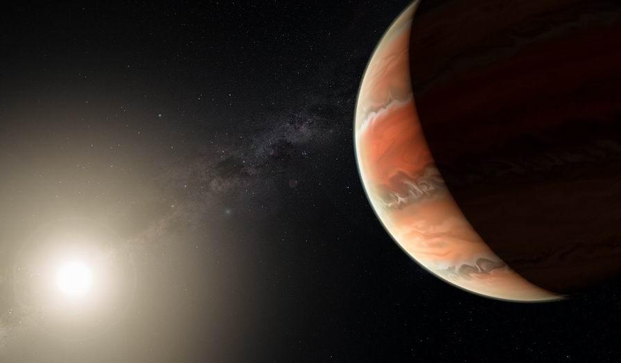 exoplanéta s titánovym nebom