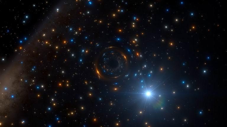 čierna diera - ilustrácia