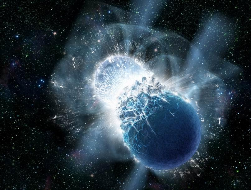 splynutie dvoch neutrónových hviezd